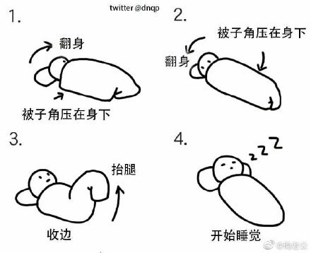冬天的标准睡姿  多少人是这样操作的