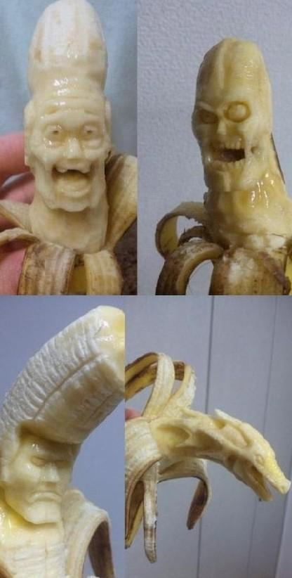 香蕉还可以这样玩  真长见识了