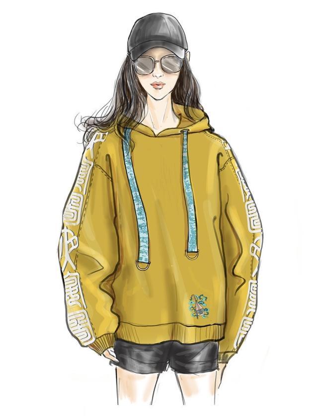 琉璃黄卫衣