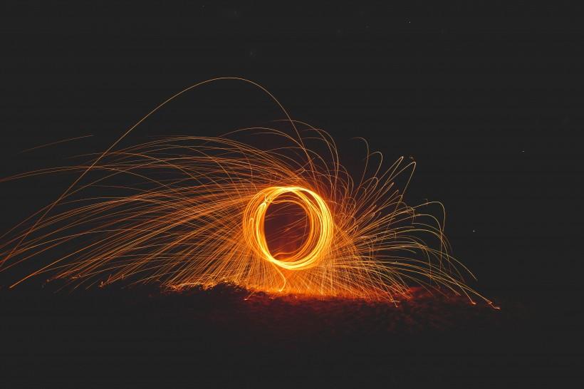 火花延时摄影高清图片