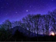 蓝色梦幻星空唯美意境图片  颗颗繁星美得让人无法呼吸